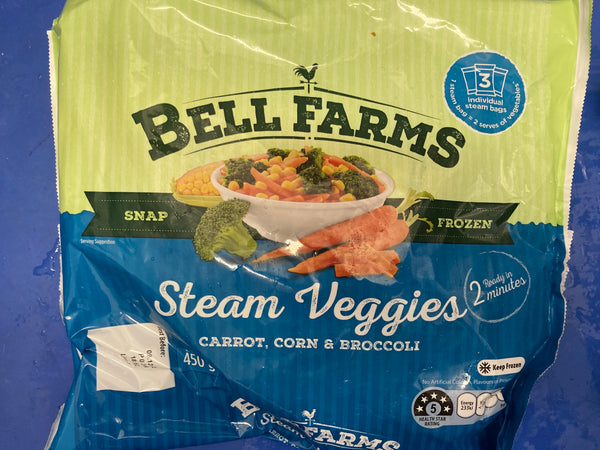 # BELL FARMS Carrots, Corn & Brocolli 450g
