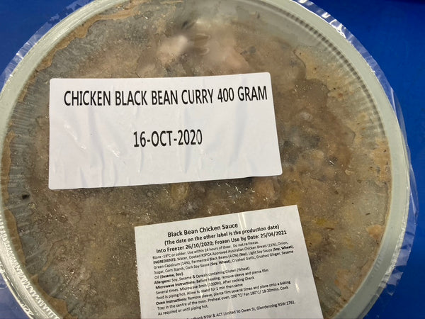 # COLES Chicken & Black Bean Curry Bowl 400g