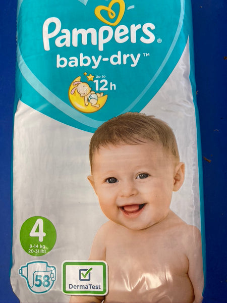 Pampers 58pk  Size 9-14kg