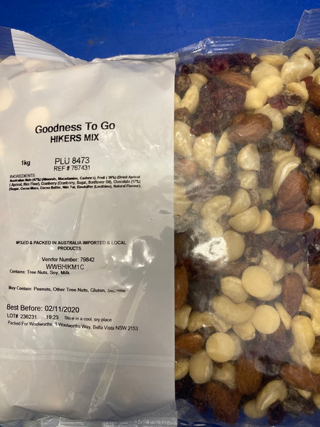 Goodness To Go Hikers Mix 1kg Limit 1