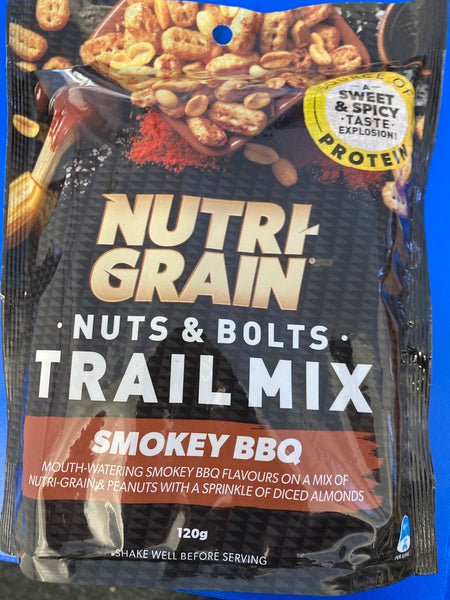 KELLOGGS Nuti Grain Nuts & Bolts Trail Mix Smokey BBQ 120g