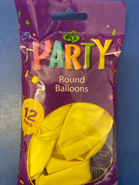 Party Yellow Balloons 6