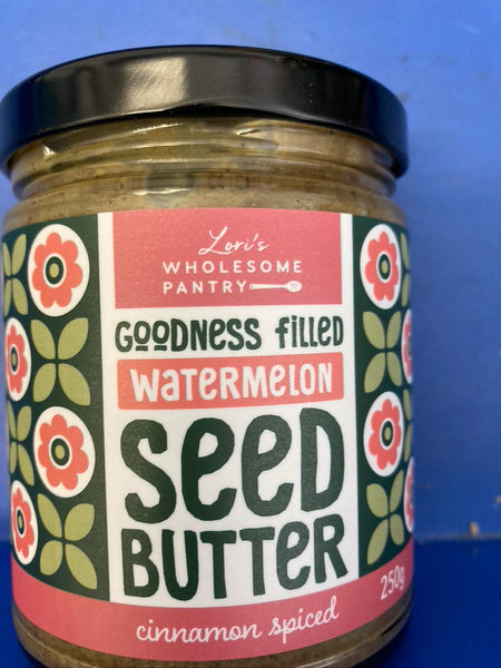 LORI'S Wholesome Pantry Goodness Filled Watermelon Seed Cinnamon Butter 250g