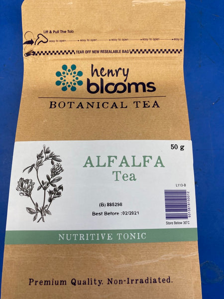 Henry Blooms Botanical Tea Alfalfa Tea Dried Herbal Tea 50g