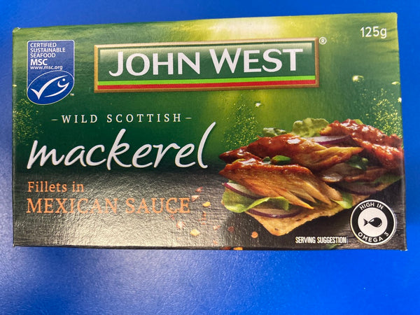 Wild Scottish Mackerel Fillets In Mexican Sauce 125g