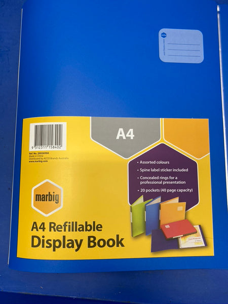MARBIG A4 Refillable Display Book