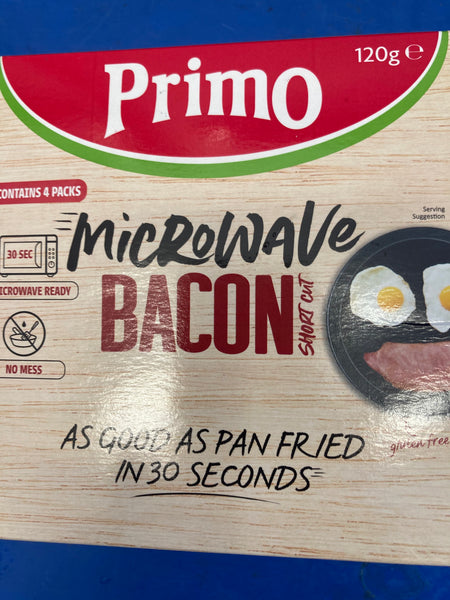 # Primo Microwave bacon 120g