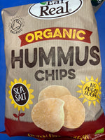 EAT REAL Organic Hummus Chip Sea Salt 100g