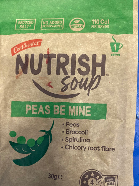 CONTINENTAL Nutrish Soup Peas Be Mine 30g