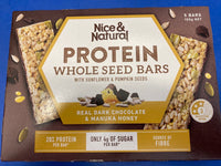 NICE & NATURAL Protein Whole Seed Bars 165g