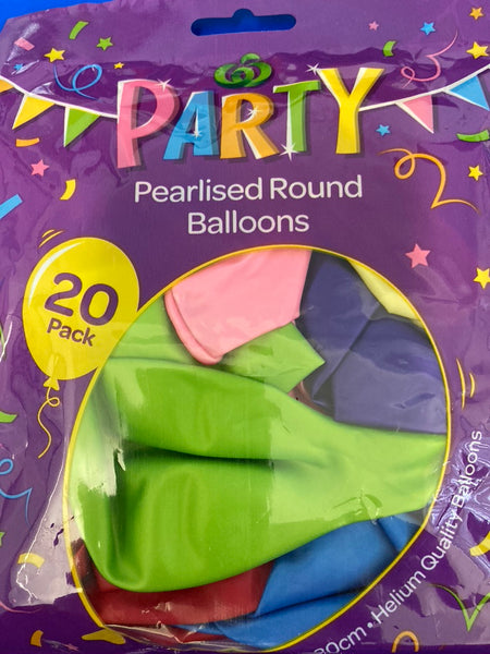 Party Decorations Balloons 20pack
