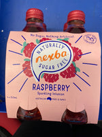 NEXBA Sugar Free Raspberry Sparkling Drink 4 x 400ml