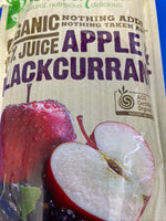 SUNRAYSIA Organic Apple & Blackcurrant 200ml