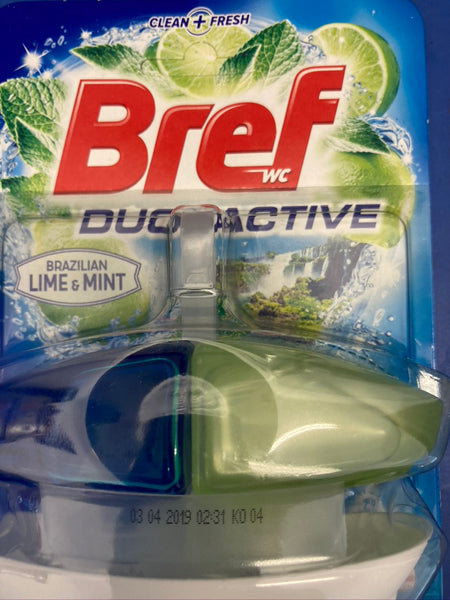 BREF DUO Active Lime & Mint Toilet Block Cleaner 50ml