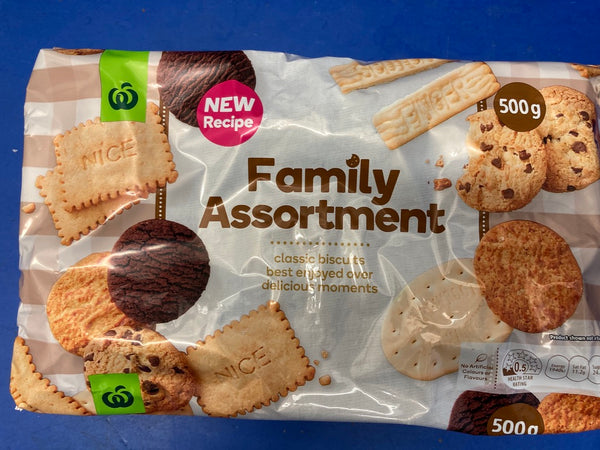 WOOLWORTHS Family Assorted Biscuits 500g