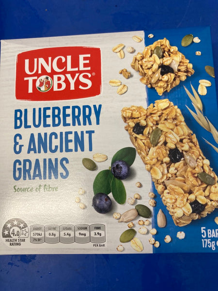Ancient Grains Blueberry Muesli Bars 175g 5 pack
