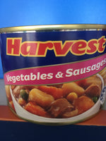 HARVEST Sausages & Onion 425g canned