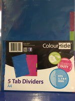 Folder A4 Tab Dividers 5 pack