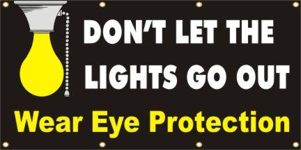 A154 Don't Let the Lights Go Out, Wear Eye Protection