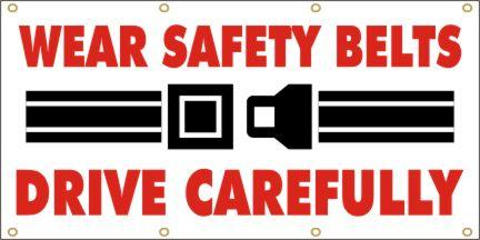 A168 Wear Safety Belts, Drive Carefully