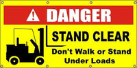 A186 Danger - Stand Clear, Don't Walk or Stand Under Loads