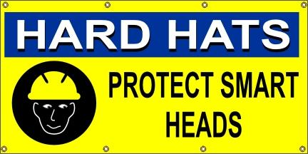 A191 Hard Hats Protect Smart Heads