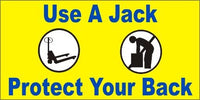 A62 Use a Jack, Protect Your Back