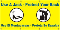 A562 Use a Jack, Protect Your Back (Spanish)