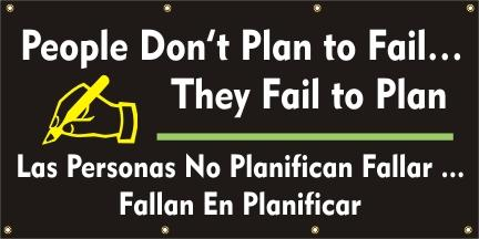A568 People Don't Plan to Fail, They Fail to Plan (Spanish)