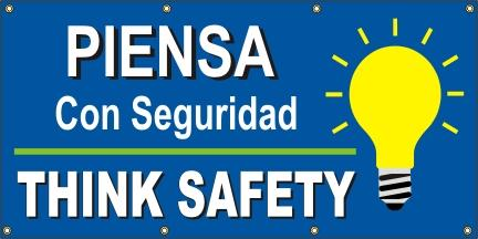 A523 Think Safety (Bulb) - Spanish