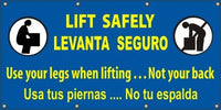 A527 Lift Safely, Use Your Legs When Lifting Not Your Back (Spanish)