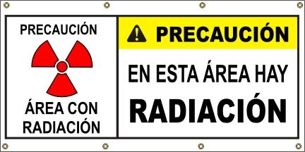 A578 Caution - Radiation  (Spanish)