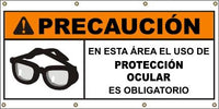 A584 Warning - Eye Protection Required (Spanish)