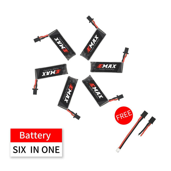 6 PACK - Nanohawk 1S HV 300mAh GNB27 Battery
