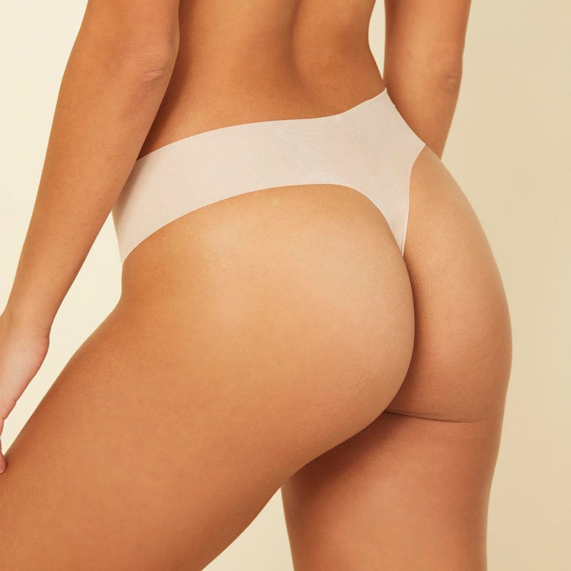 Aire Low Rise Thong - Nude Rose