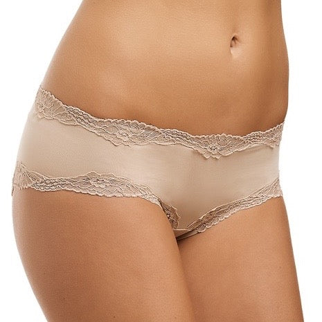 Classic Lace French Hipster - Nude