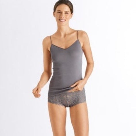 Cotton Seamless Spaghetti Top - Smooth Grey