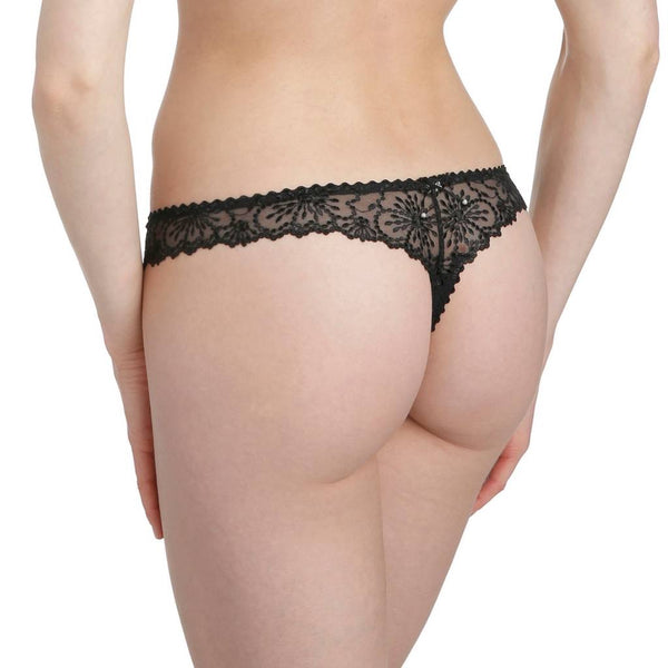Jane Lace Thong - Black