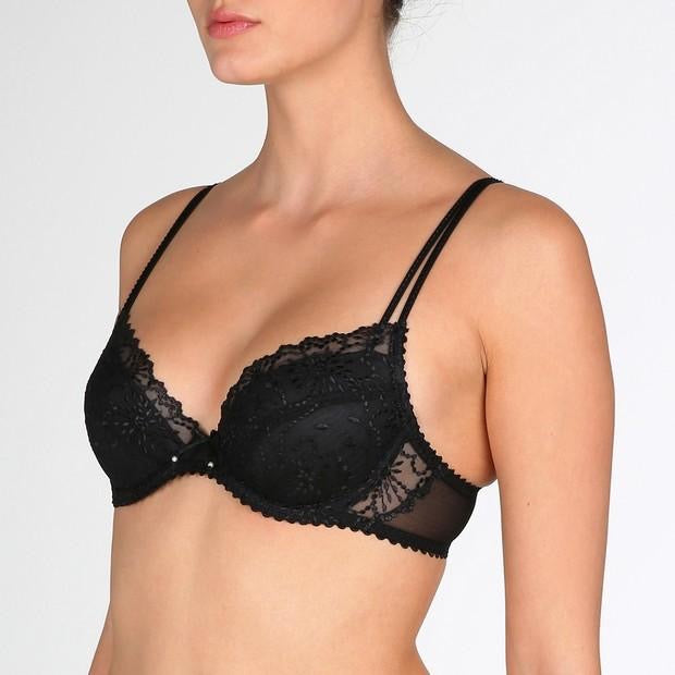 Jane Push Up Bra - Black