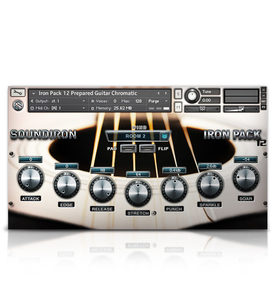 Iron Pack 12 - Prepared Guitar - Micropaks - virtual instrument sample library by Soundiron