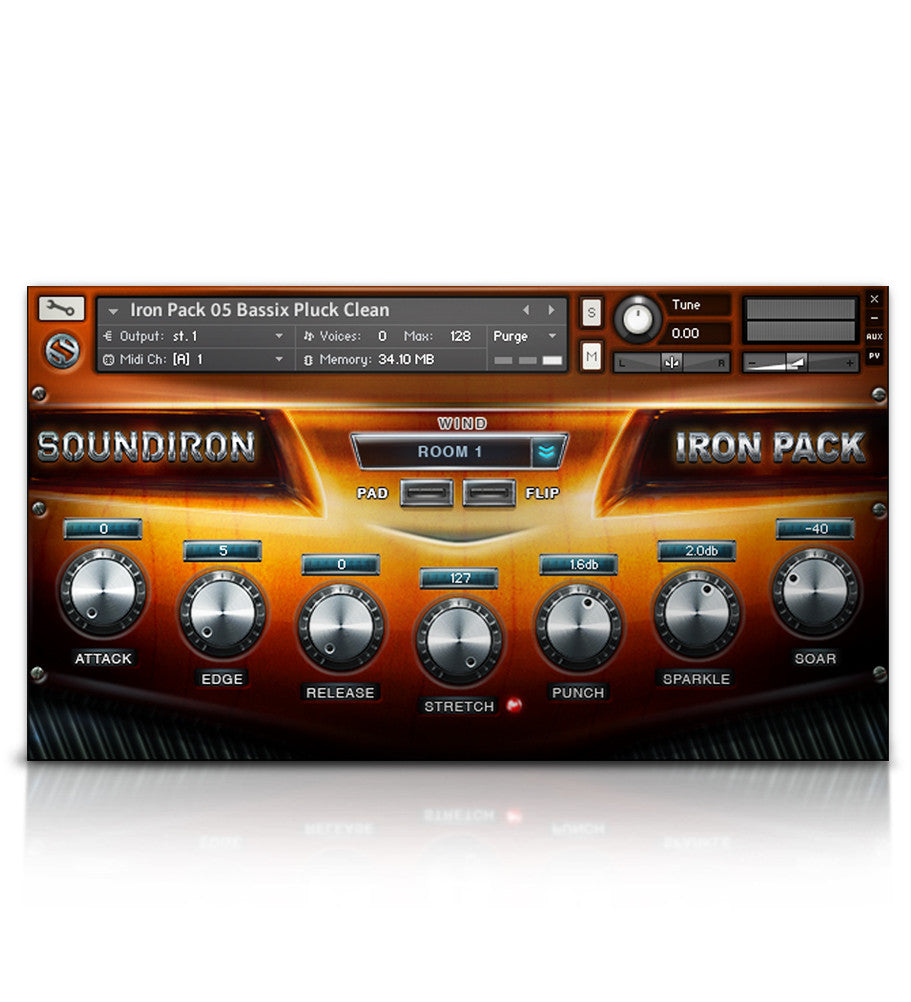 Iron Pack 5 - Baritone Guitar - Micropaks - virtual instrument sample library by Soundiron