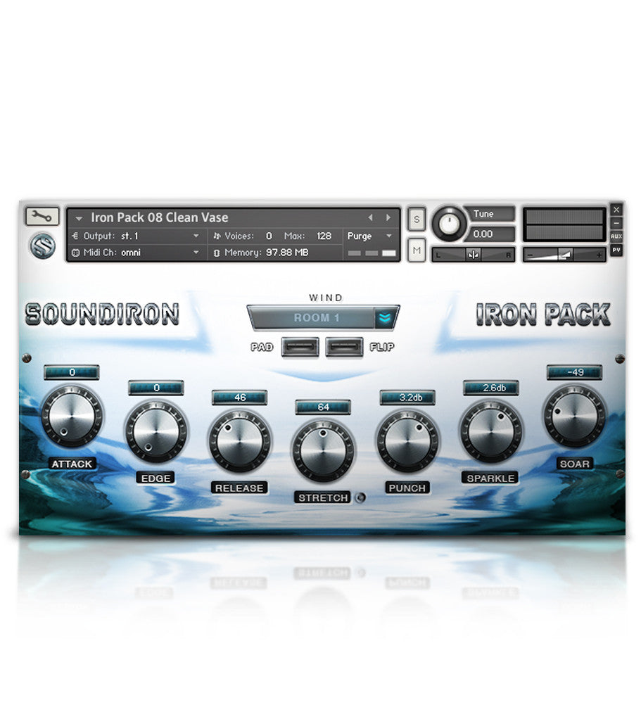 Iron Pack 8 - Tuned Glass - Micropaks - virtual instrument sample library for Kontakt by Soundiron