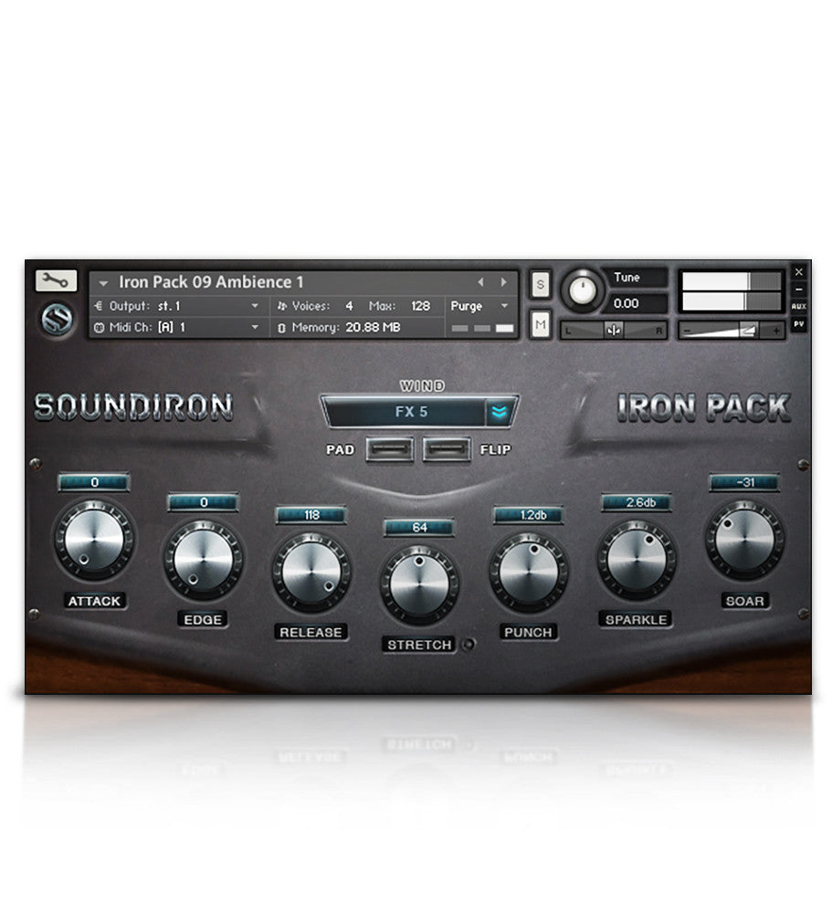Iron Pack 9 - Fat Analog - Micropaks - virtual instrument sample library for Kontakt by Soundiron