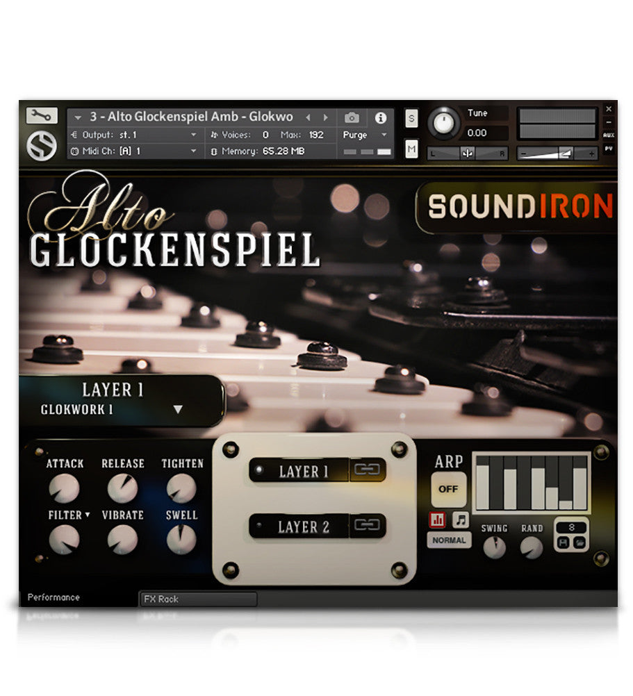 Alto Glockenspiel - Tuned Percussion - virtual instrument sample library for Kontakt by Soundiron