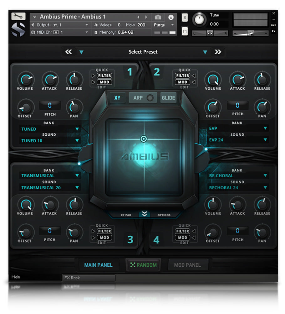 Soundiron Ambius Prime evolving atmospheric synth and morphing soundscape collection for Kontakt Player (VST, AU, AAX)