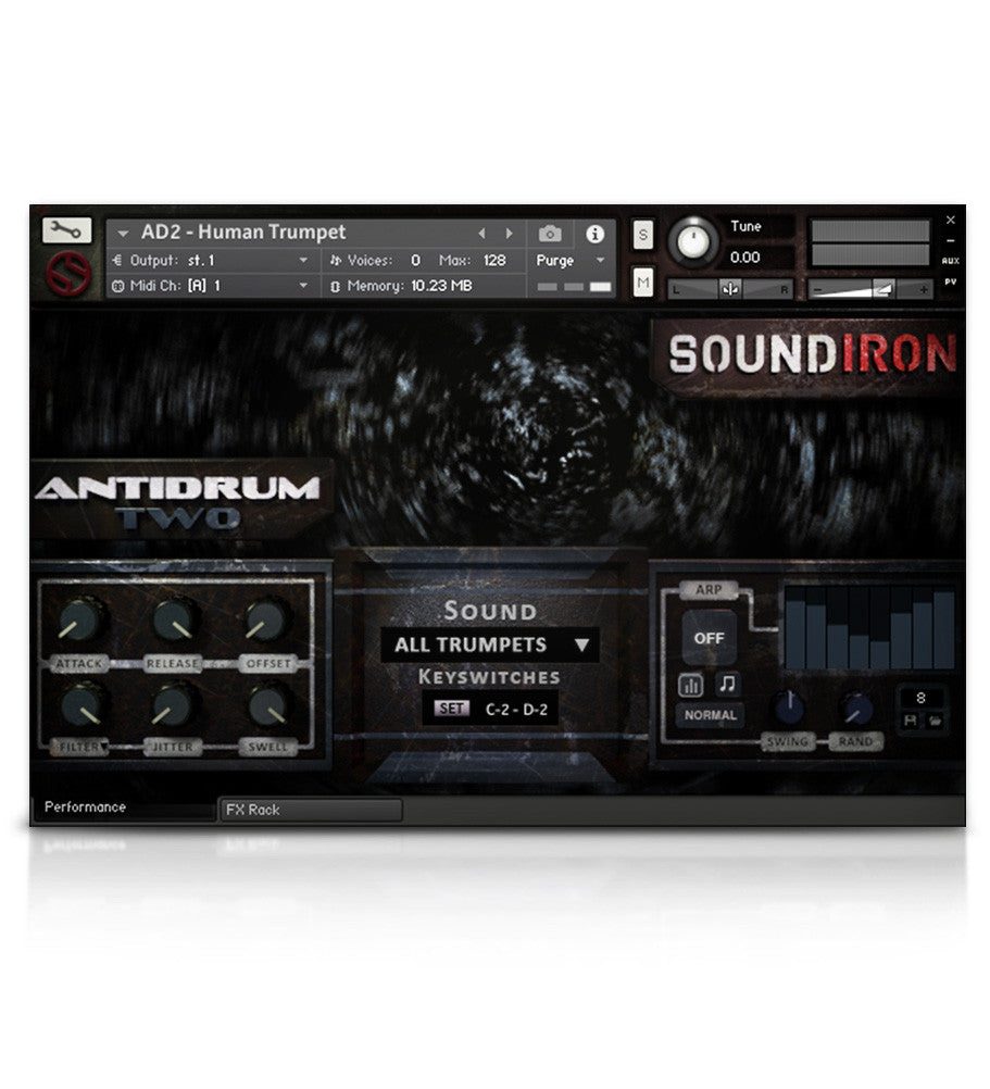 Antidrum 2 - Experimental - virtual instrument sample library by Soundiron