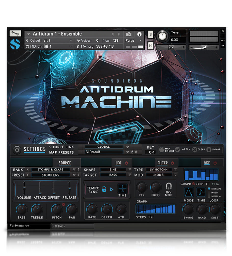Antidrum Machine - Experimental - virtual instrument sample library for Kontakt by Soundiron
