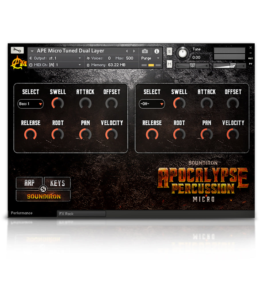 Apocalypse Percussion Micro - APE Series - virtual instrument sample library for Kontakt by Soundiron