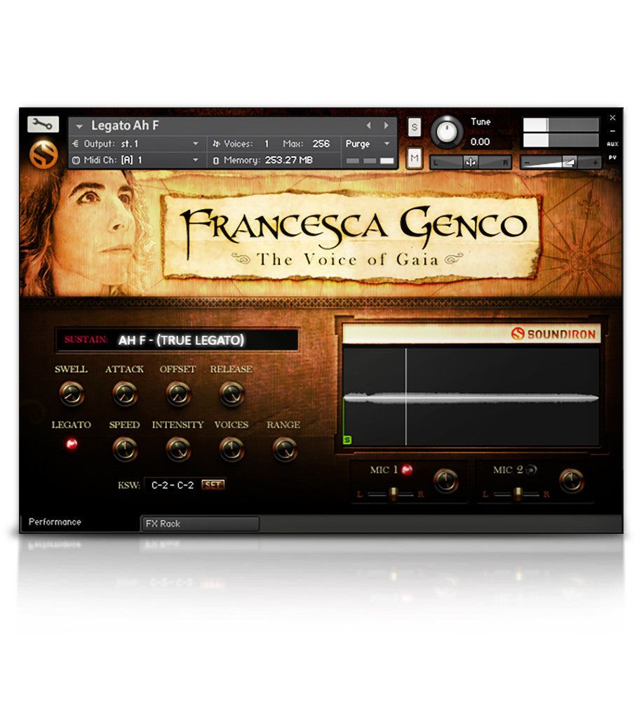 Voice of Gaia: Francesca - Solo Voice - virtual instrument sample library for Kontakt by Soundiron