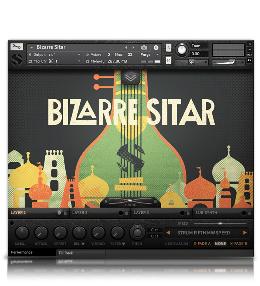 Bizarre Sitar - Strings - virtual instrument sample library for Kontakt by Soundiron
